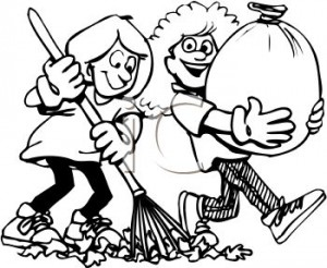 0511-0908-1722-5862-black-and-white-cartoon-of-friends-helping-each-other-rake-leaves-clipart-image-jpg